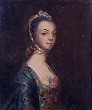 Ash, Musbury - Anne Speke (before 1741–1797), heiress of Ash, whose husband Frederick North, 2nd Earl of Guilford (1732–1792) disposed of the Drake estates piece-meal. Portrait after Sir Joshua Reynolds (1723–1792)