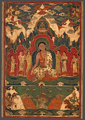 Painted Banner (Thangka) of Milarepa on Mount Kailasha