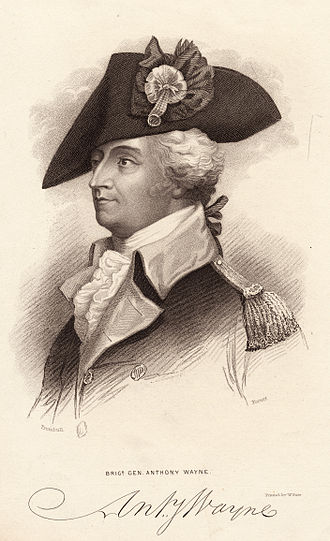 Battle of Green Spring - Brigadier General Anthony Wayne, 18th-century engraving