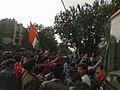 Anti CAB protestors stopping traffic in Delhi.jpg