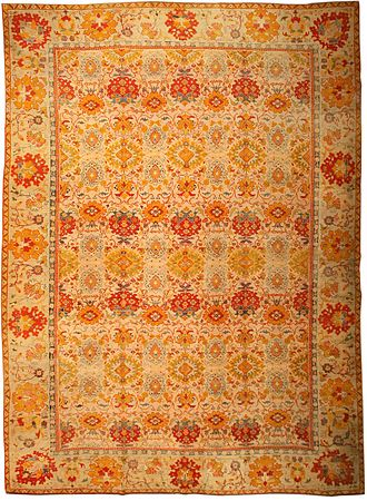 Islamic art - Turkish Ushak carpet