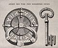 Architecture; a lock and key with gothic ornament. Wood engr Wellcome V0024301.jpg