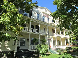 National Register of Historic Places listings in Warren County, New York - Image: Argent Apartments, Glens Falls NY