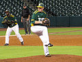 Arkansas Tech pitcher Bryson Morris Feb 2014.jpg