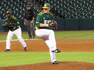Arkansas Tech University - Image: Arkansas Tech pitcher Bryson Morris Feb 2014