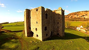 Peel tower - Arnside Tower, a late-medieval Pele tower in Cumbria