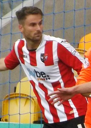 Arron Davies - Davies playing for Exeter City in 2013