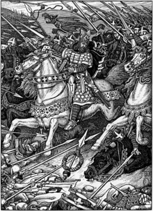 Arthur Leading the Charge at Mount Badon.png