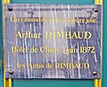Arthur Rimbaud plaque - 8 rue Victor Cousin, Paris 5th arr (26893710206).jpg