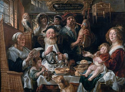 As the Old Sang, So the Young Pipe As the Old Sing, So the Young Pipe, by Jacob Jordaens.jpg