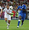 Ashley Cole and Mario Balotelli England-Italy Euro 2012.JPG