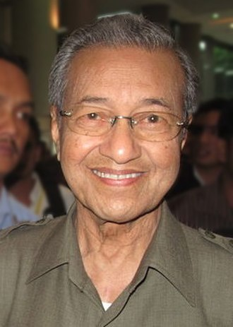 Politics of Malaysia - Current Prime Minister of Malaysia, Mahathir Mohamad.