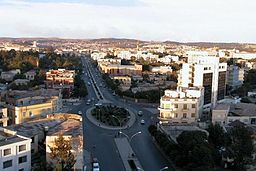 Vy over Asmara.