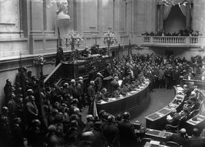 Constitution of Portugal - Image: Assembleia Constituinte da República, presidida pelo presidente Braamcamp Freire