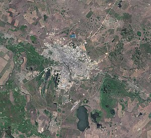 Astana - Satellite image of Astana and vicinities