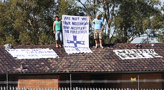 Villawood Immigration Detention Centre - Protesters at the detention centre as of 22 April 2011.