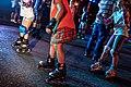 Atardecer sobre patines en La Castellana 03.jpg