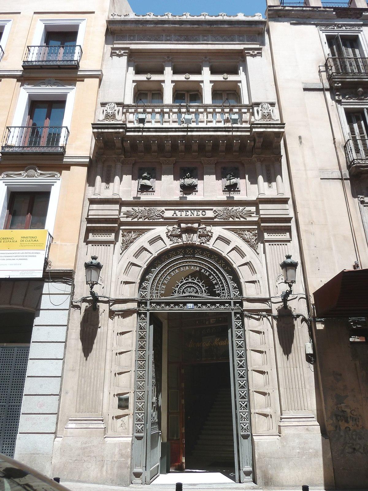 Ateneo de madrid wikipedia la enciclopedia libre for Hoteles en la calle prado de madrid
