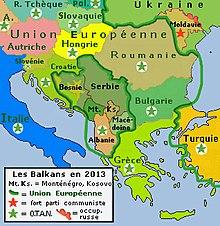 carte europe balkans