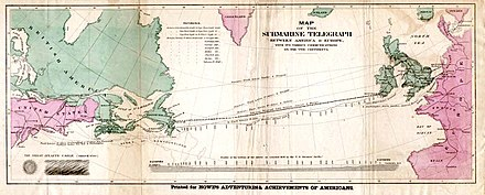 July 27: Atlantic Cable was completed Atlantic cable Map.jpg
