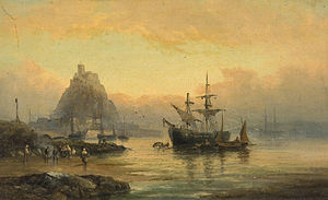 Attrib. to William Anslow Thornley - St. Michael's Mount, Cornwall.jpg
