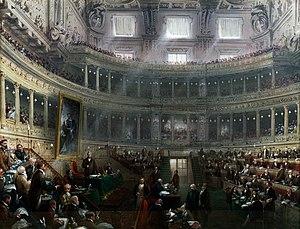 Carlo Bossoli - Image: Aula del Senato Subalpino