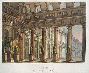 Aureliano in Palmira - Stage setting from Act 1 in the original production at La Scala by Alessandro Sanquirico