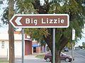 Australia, Tourist Information Road Sign, Big Lizzie.jpg