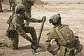 Australian soldiers firing a mortar in Iraq during October 2018.jpg