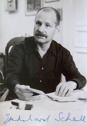 Ekkehard Schall - Ekkehard Schall's autograph, 1989.