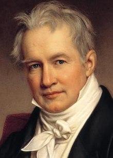 Målning av Joseph Stieler föreställande Alexander von Humboldt 1843.