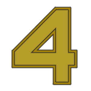 Huntington Hardisty - Image: Award numeral 4