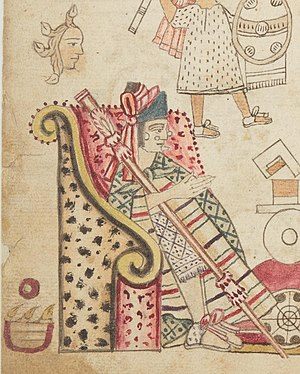 Codex Azcatitlan - The Aztec tlatoani Axayacatl in the Azcatitlan Codex
