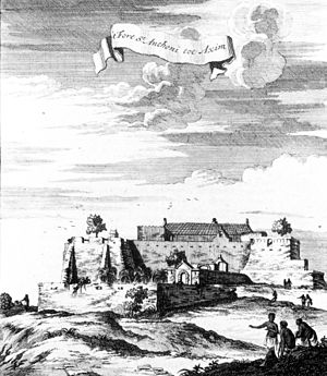 Fort Saint Anthony - Image: Axim Litho 1709
