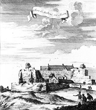 Fort Saint Anthony - Fort Santo Antonio in Axim in 1709.