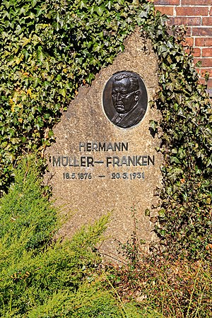 Hermann Müller (politician) - The grave of Hermann Müller