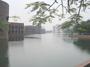 Louis Kahn's stately capital complex was his vision of a modern Bengali city, with crisscrossing canals and gardens