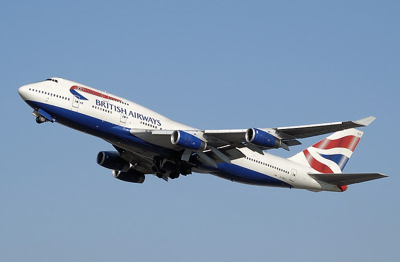 Un Boeing 747-400 de British Airways.