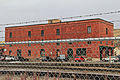 Back of Missoula Mercantile Warehouse and railroad tracks - Missoula Montana Jan 3 2014.jpg