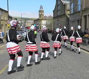 """Will Straw - The """"Nutters"""" performing in Bacup at Easter in 2014"""