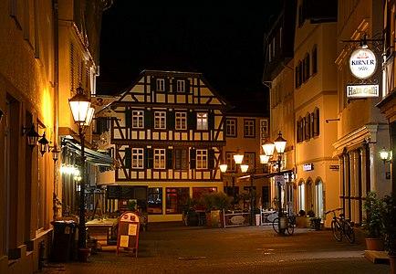 Bad Kreuznach, Germany, by night