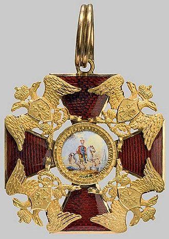 Order of Saint Alexander Nevsky - Image: Badge to Order St Alexander Nevsky 1820 1830