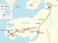Bahnstrecke Husum-St Peter Ording map.png