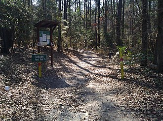 Louisiana - Entrance to the Bald Eagle Nest Trail at South Toledo Bend State Park