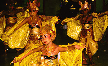Bali Dancers Balinese Dance - Yellow Moths