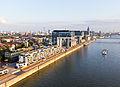 Ballonfahrt über Köln - Rhein, Rheinauhafen mit Wohnwerft 18.20, Kranhäuser-RS-4055.jpg