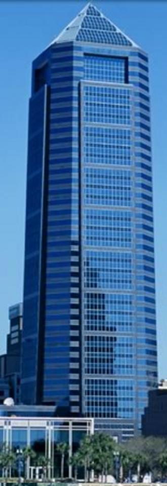 Barnett Bank - The Bank of America Tower, originally the Barnett Center, which served as the headquarters of Barnett Bank until 1997