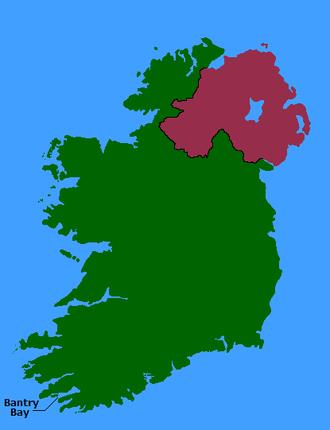 Bantry Bay - Location of Bantry Bay in Ireland