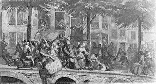 Anno 1748. Plundering van de huizen der belastingpachters
