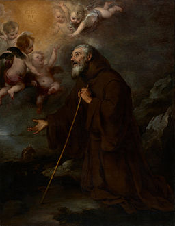 Bartolomé Esteban Murillo (Spanish - The Vision of Saint Francis of Paola - Google Art Project
